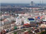 济宁市西城区鸟瞰图